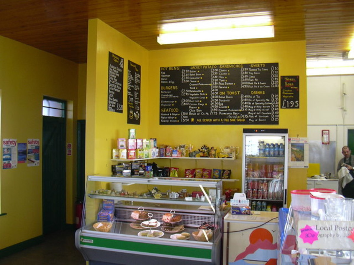 Interior of Cafe