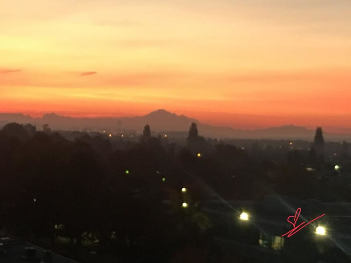 When the mountain view under the fiery sky greets you, be grateful and do not screw the opportunity. Carpe diem!