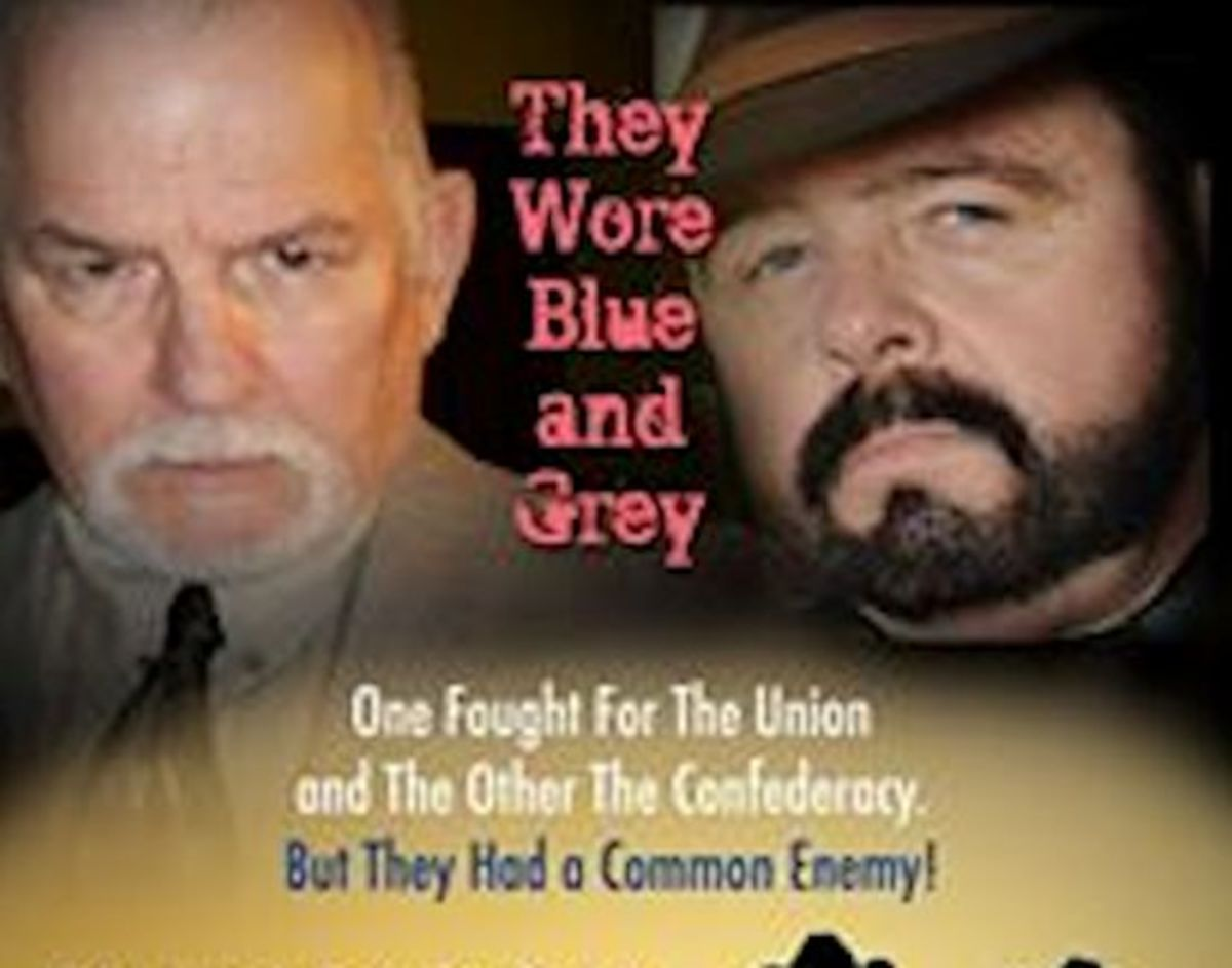 """They Wore Blue and Gray"" Poster B Source: Poster design by W.R. (Gary) Benton - Novelist"