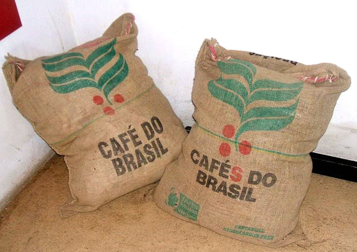 Brazillan coffee sacks -- yummm!