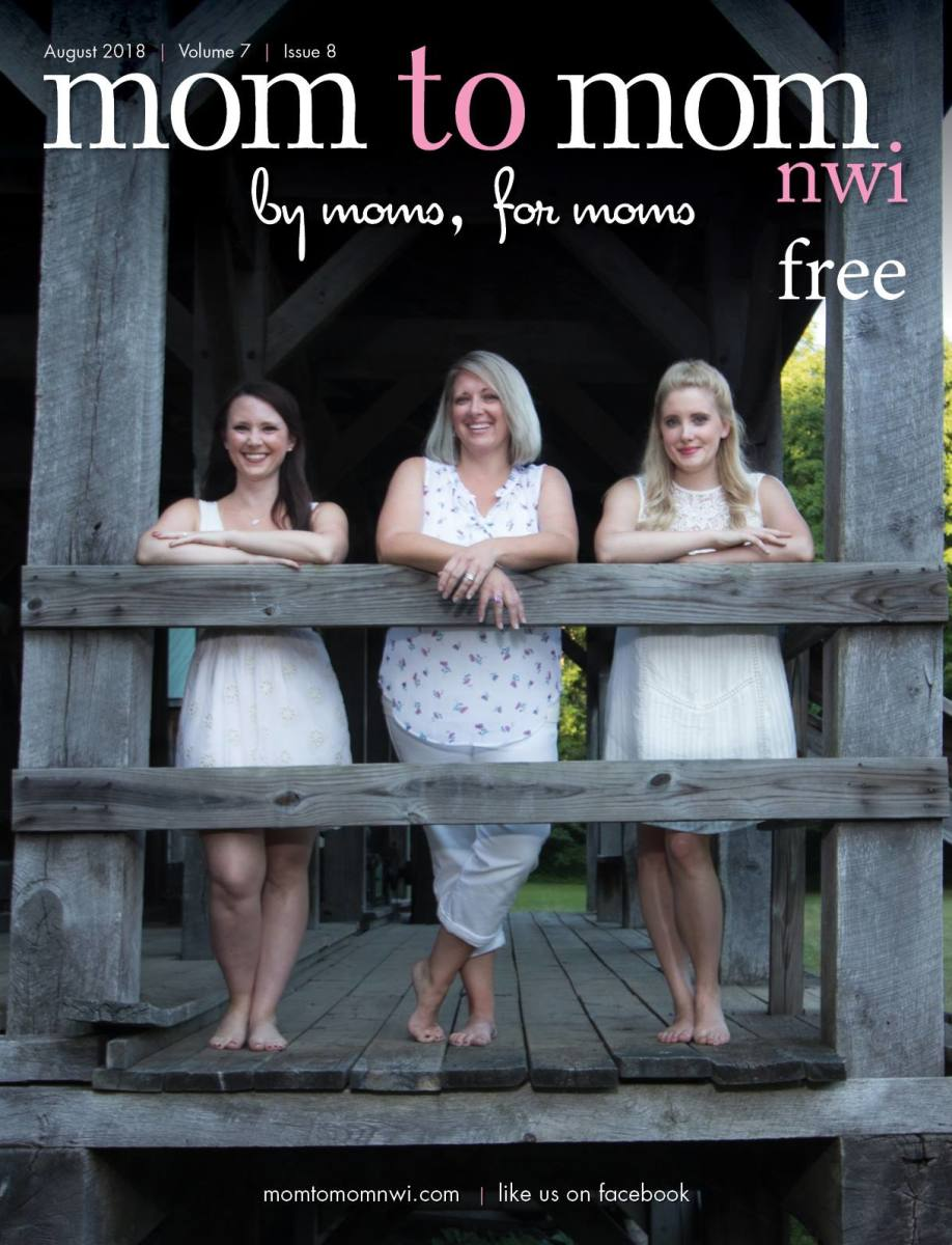 Cover of Mom to Mom, NWI Magazine, August 2018