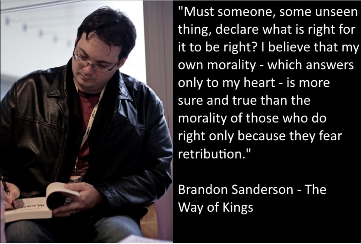 """""""Must someone, some unseen thing, declare what is right for it to be right? I believe that my own morality -- which answers only to my heart -- is more sure and true than the morality of those who do right only because they fear retribution."""""""