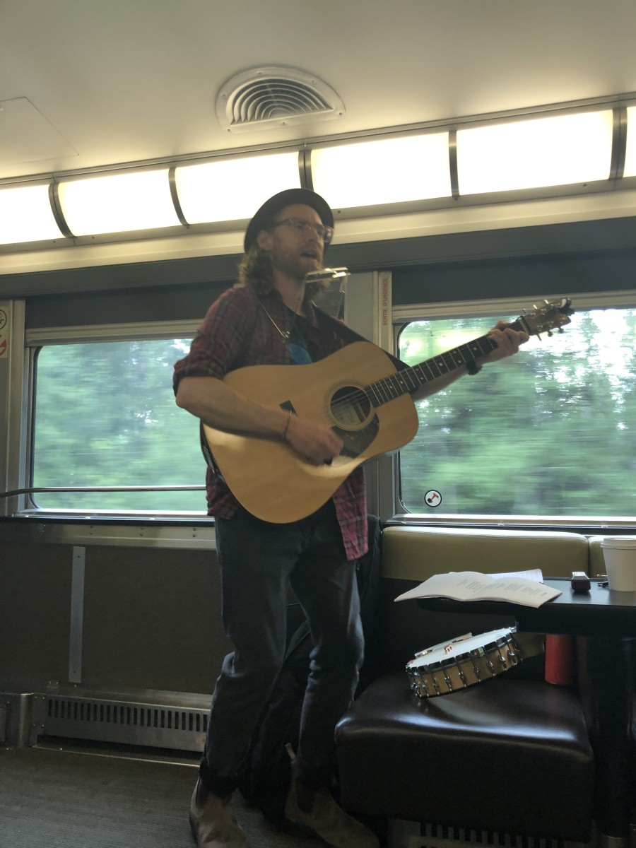In exchange for the train ride, musicians provide live music twice daily on these VIA Rail trips across Canada