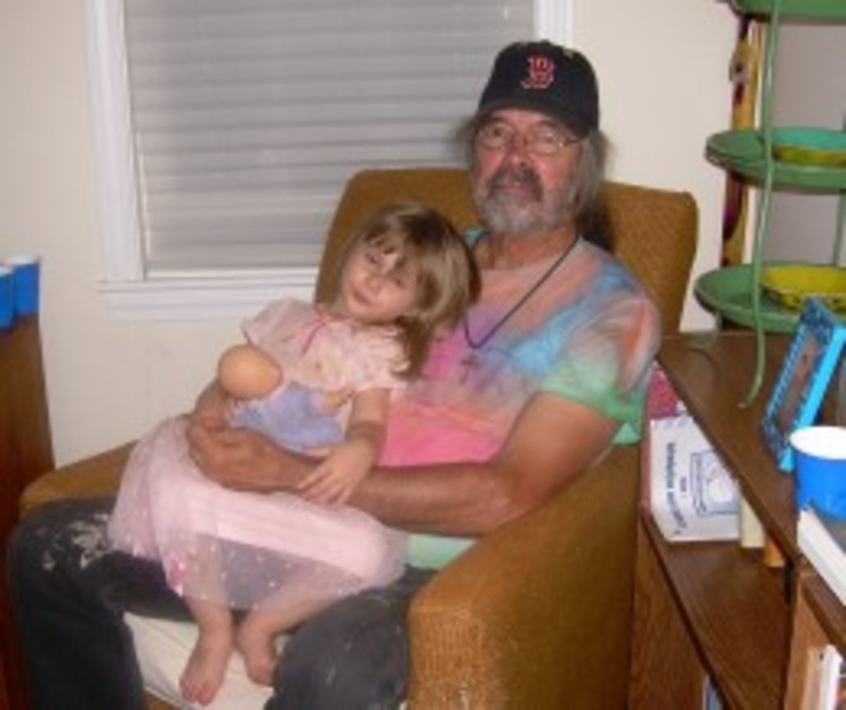 My daughter with our friend, Jack  Powers, who founded Stone Soup Poetry in the Boston area