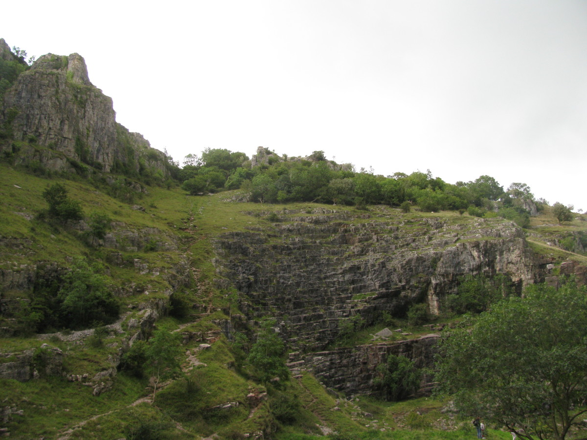 Look at the sky, look at the trees, what will you find beyond the summit? (Cheddar Gorge, Somerset)