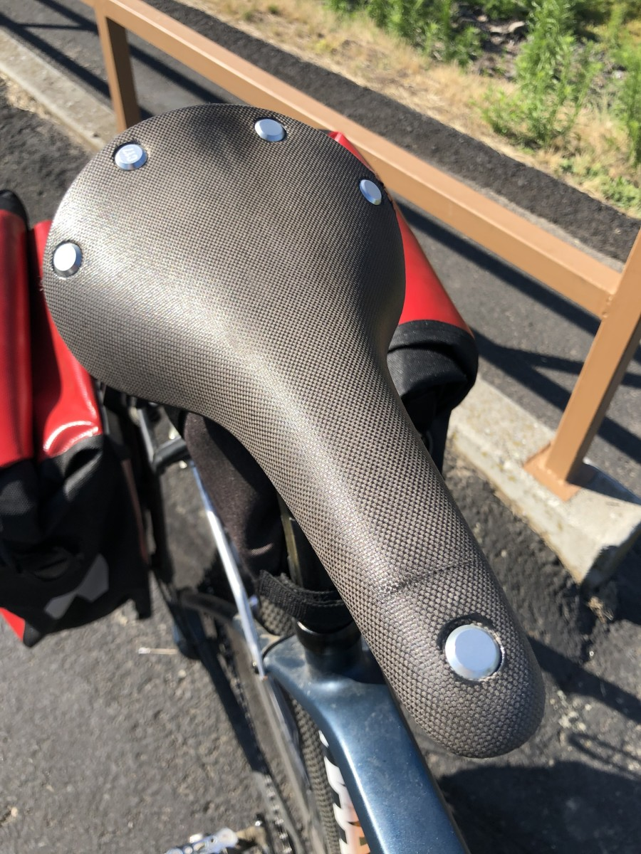 Here's the rivet on a modern-day Brooks saddle on one of my bikes