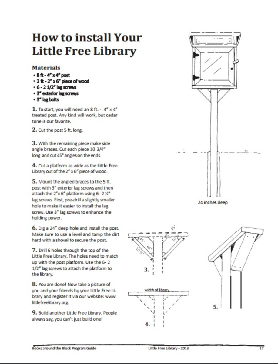 Little Free Library Installation Instructions