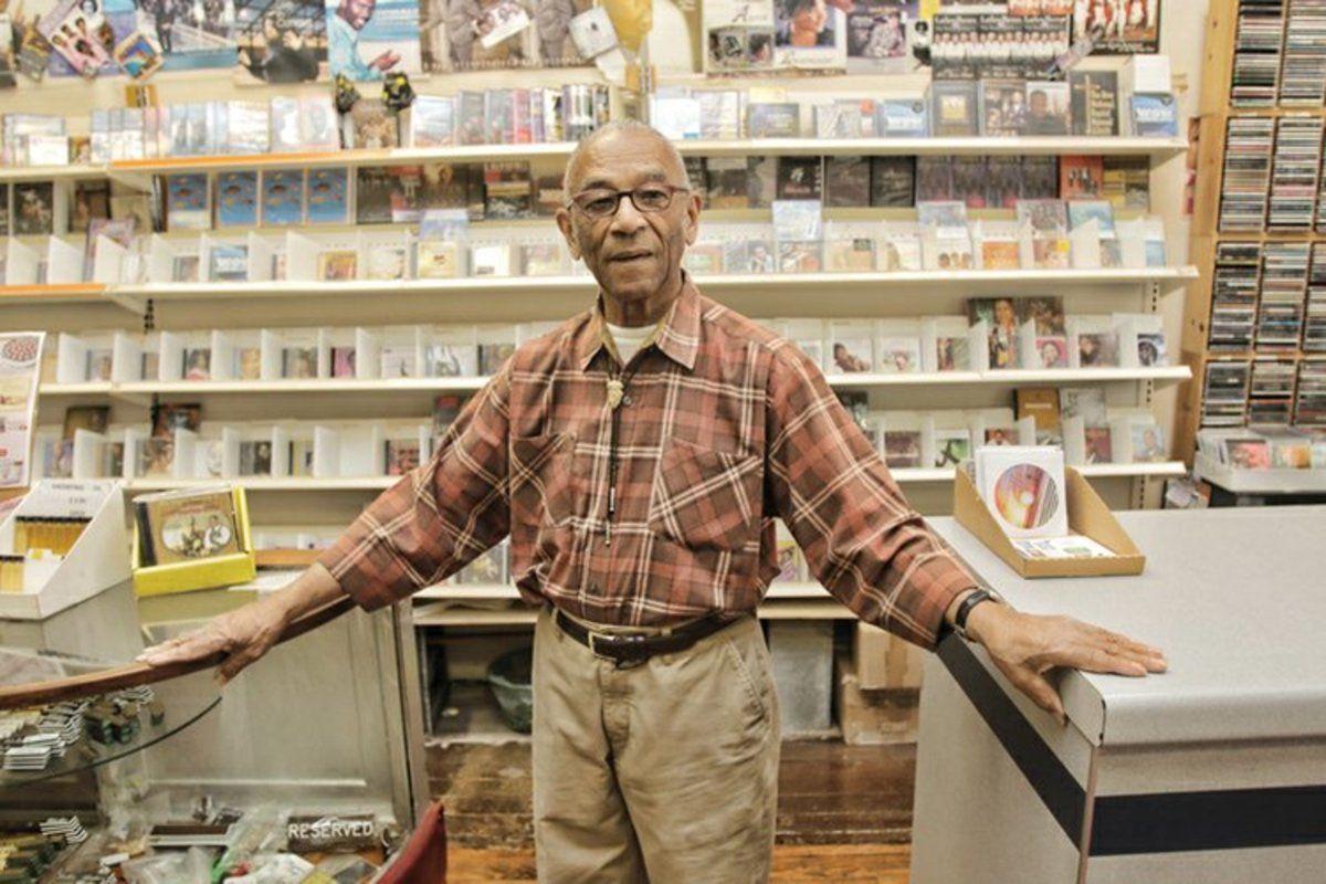 "Mr. Barksdale ""Barky"" Haggins of Barky's Music Store in Richmond, Virginia"