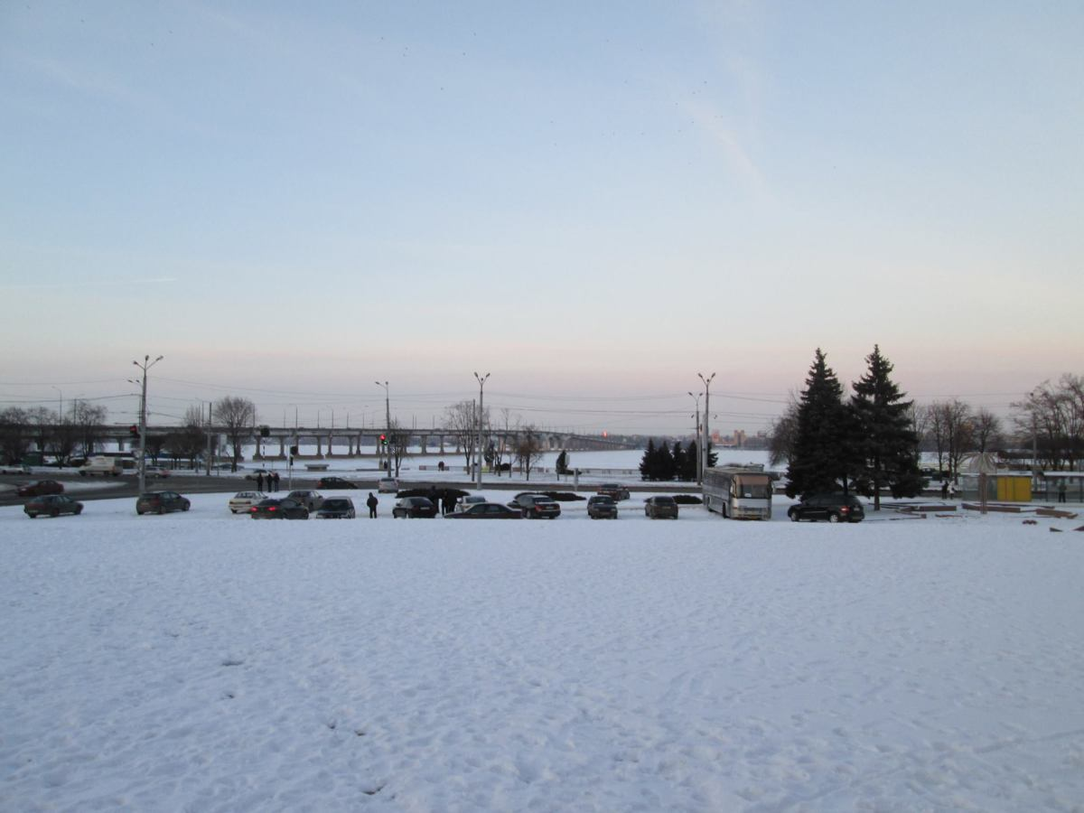 Another snowy day in Dnipropetrovsk Oblast, Ukraine