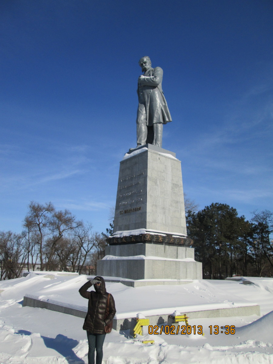 Another statue in Dnipropetrovsk Oblast, Ukraine