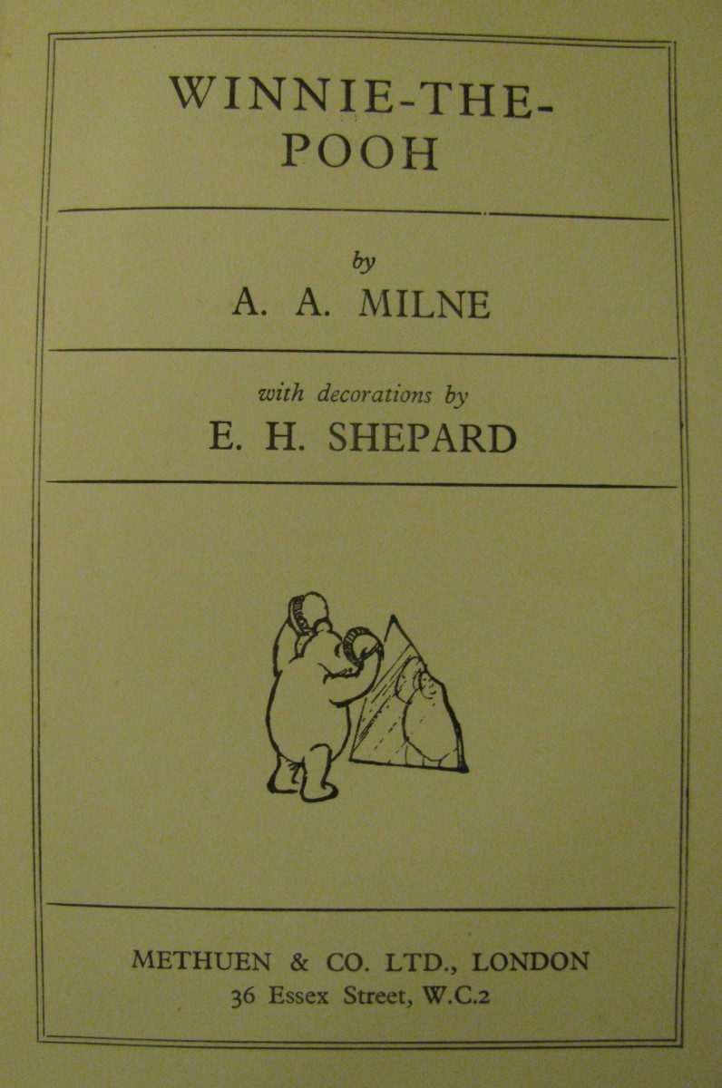 Telling Stories  (Winnie-the-Pooh by A A Milne)