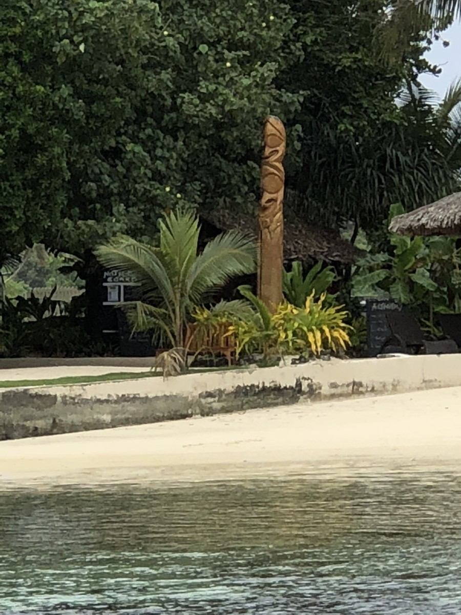 Tatum Pole at a resort on the Lagoon, Port Vila
