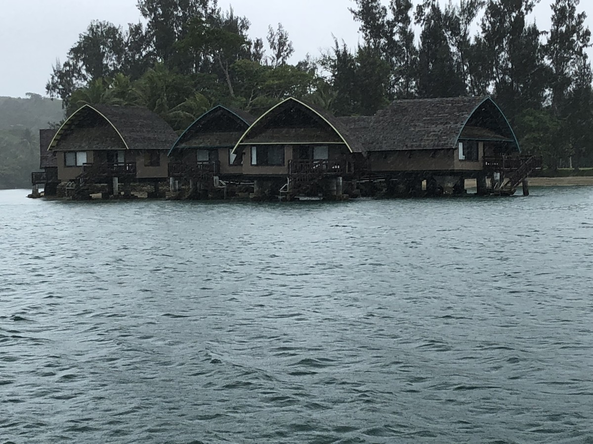 One of the resorts along the lagoon
