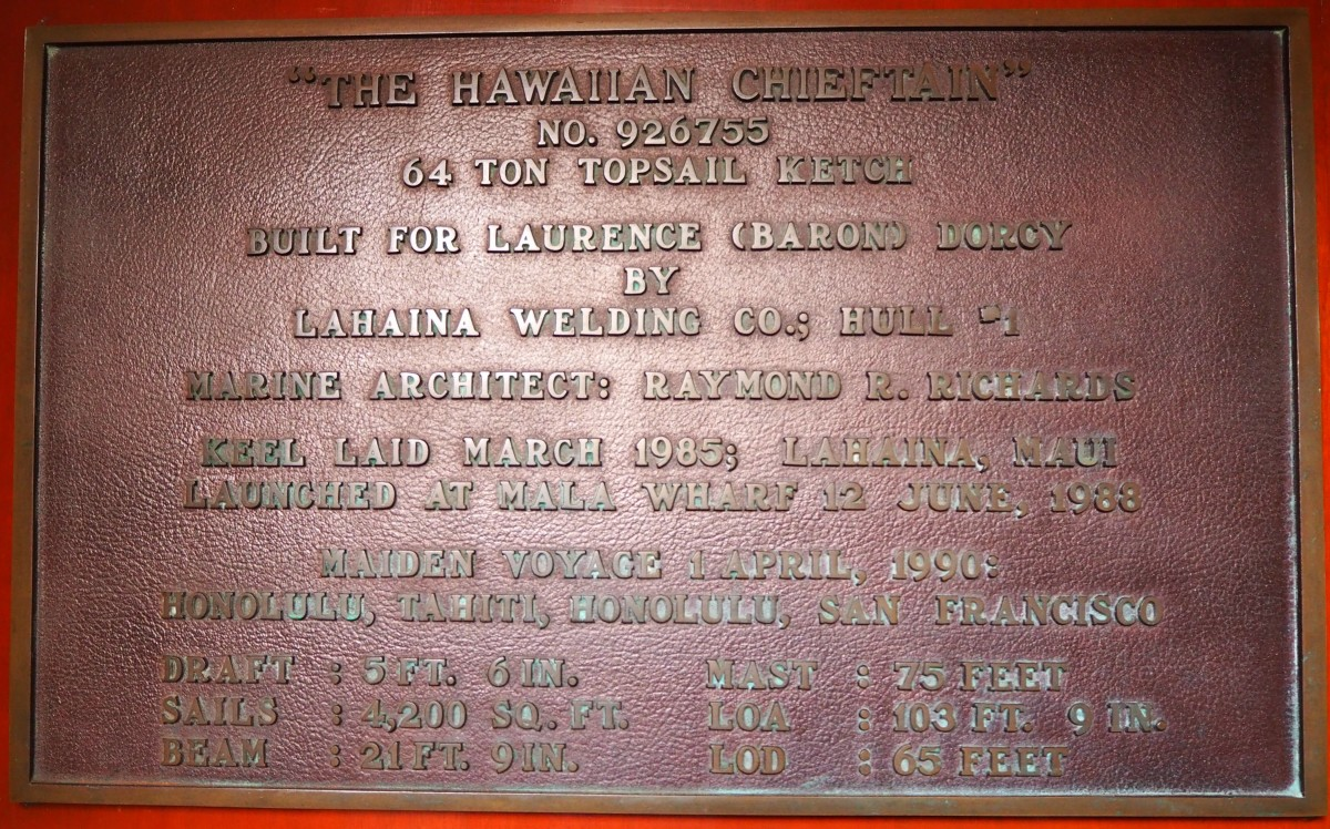 Ship's history plaque