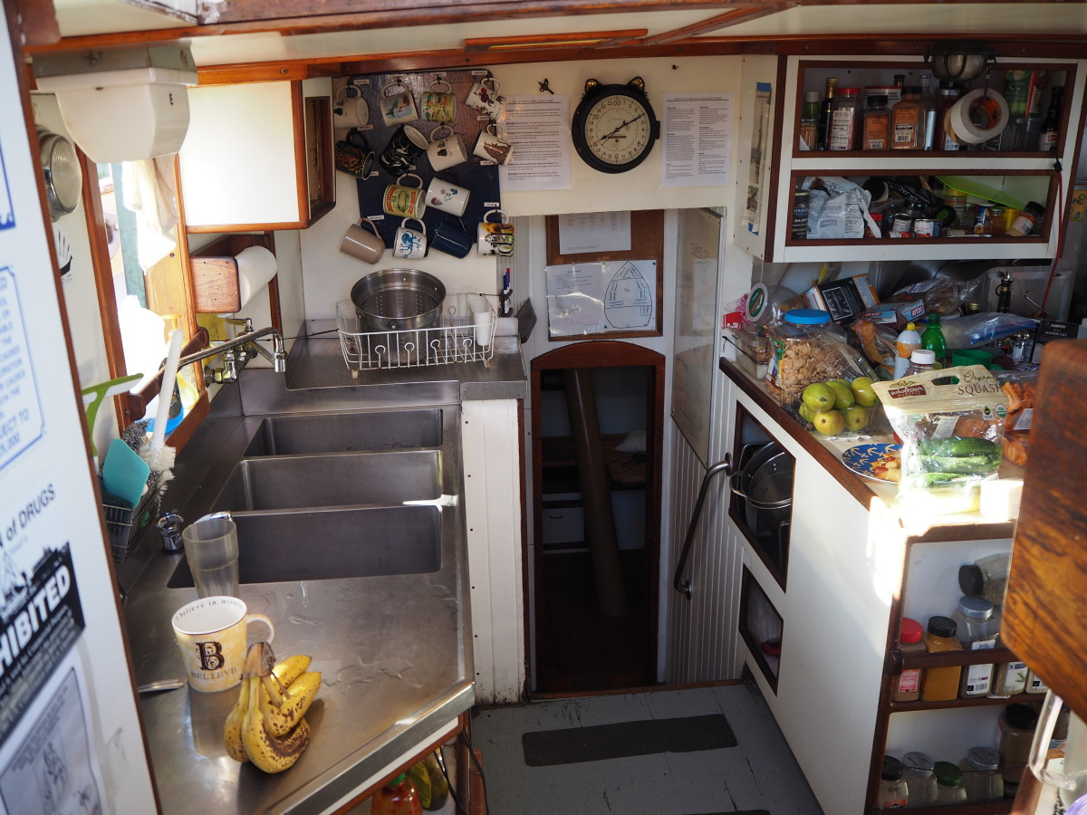 To say the galley is small would be a world-class understatement