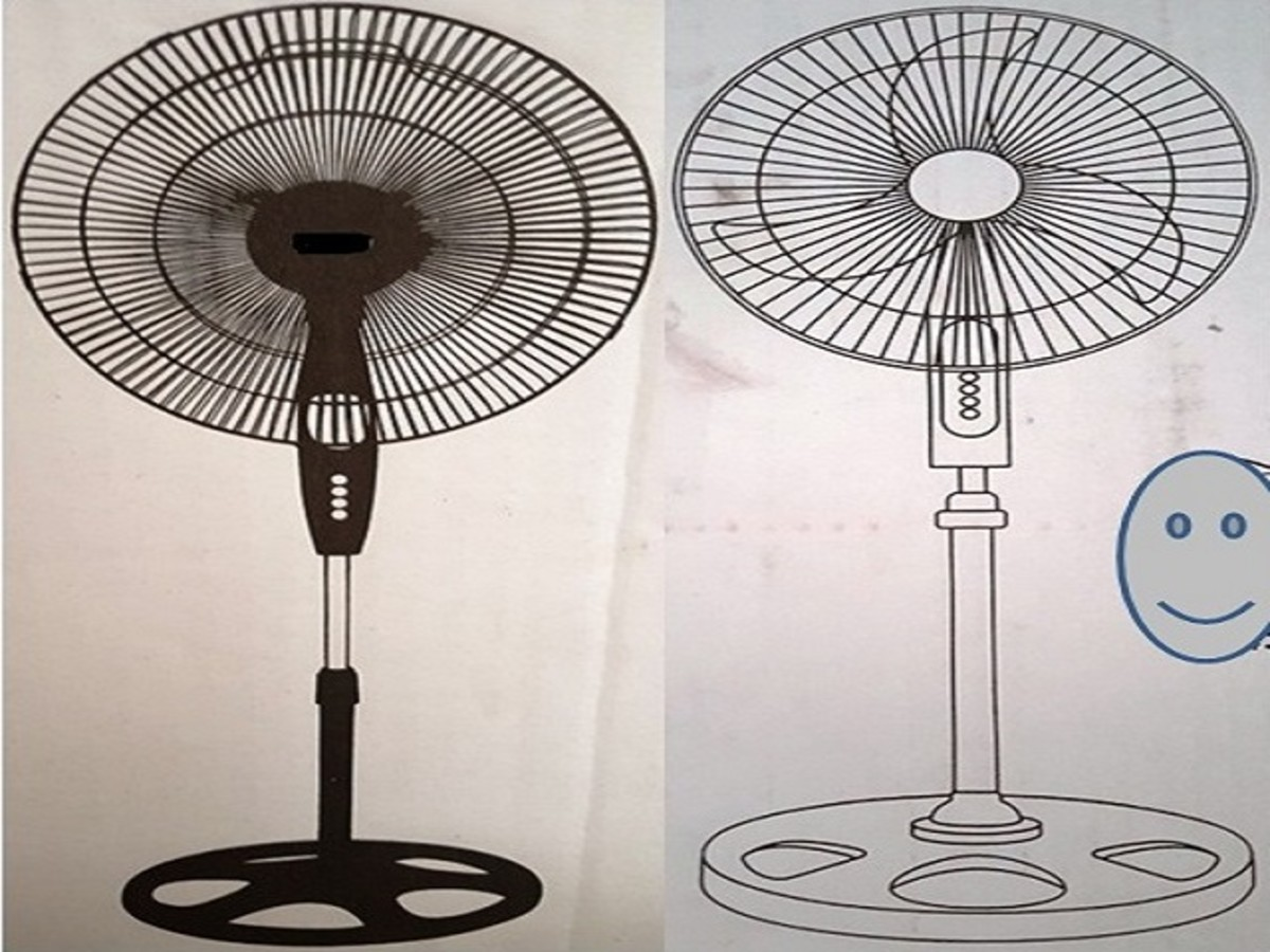 3-Blade Standing Electric Fans