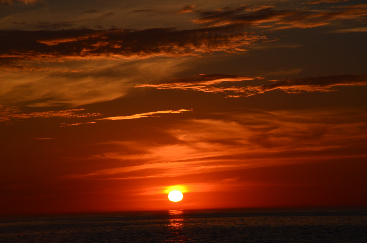 Sunset in the Celtic Sea