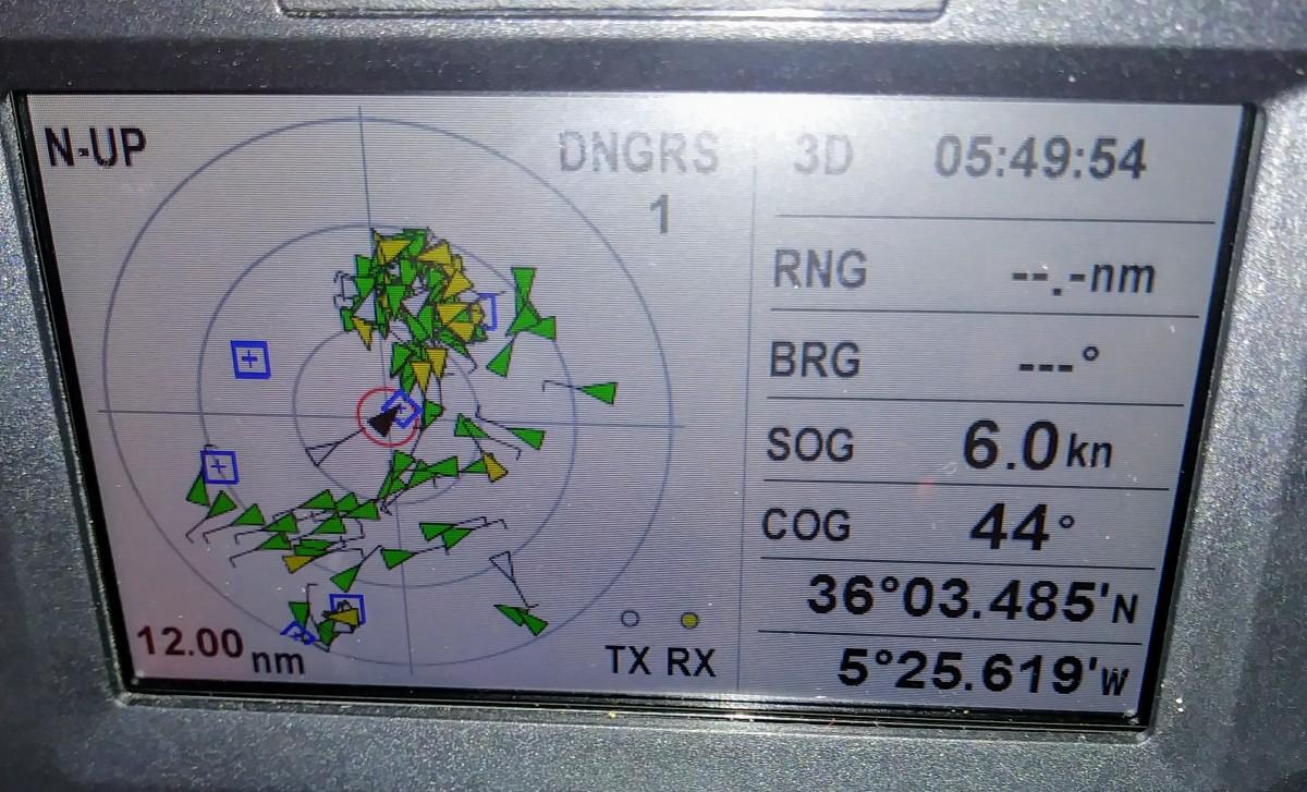 AIS traffic in Gibraltar