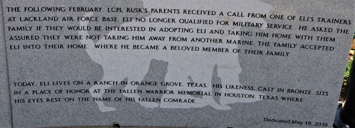 Story of Eli at the Service Dog Memorial