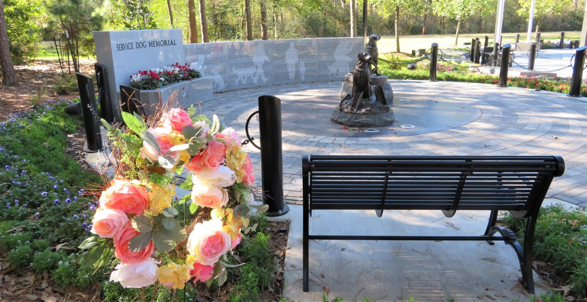 Floral wreath at the memorial