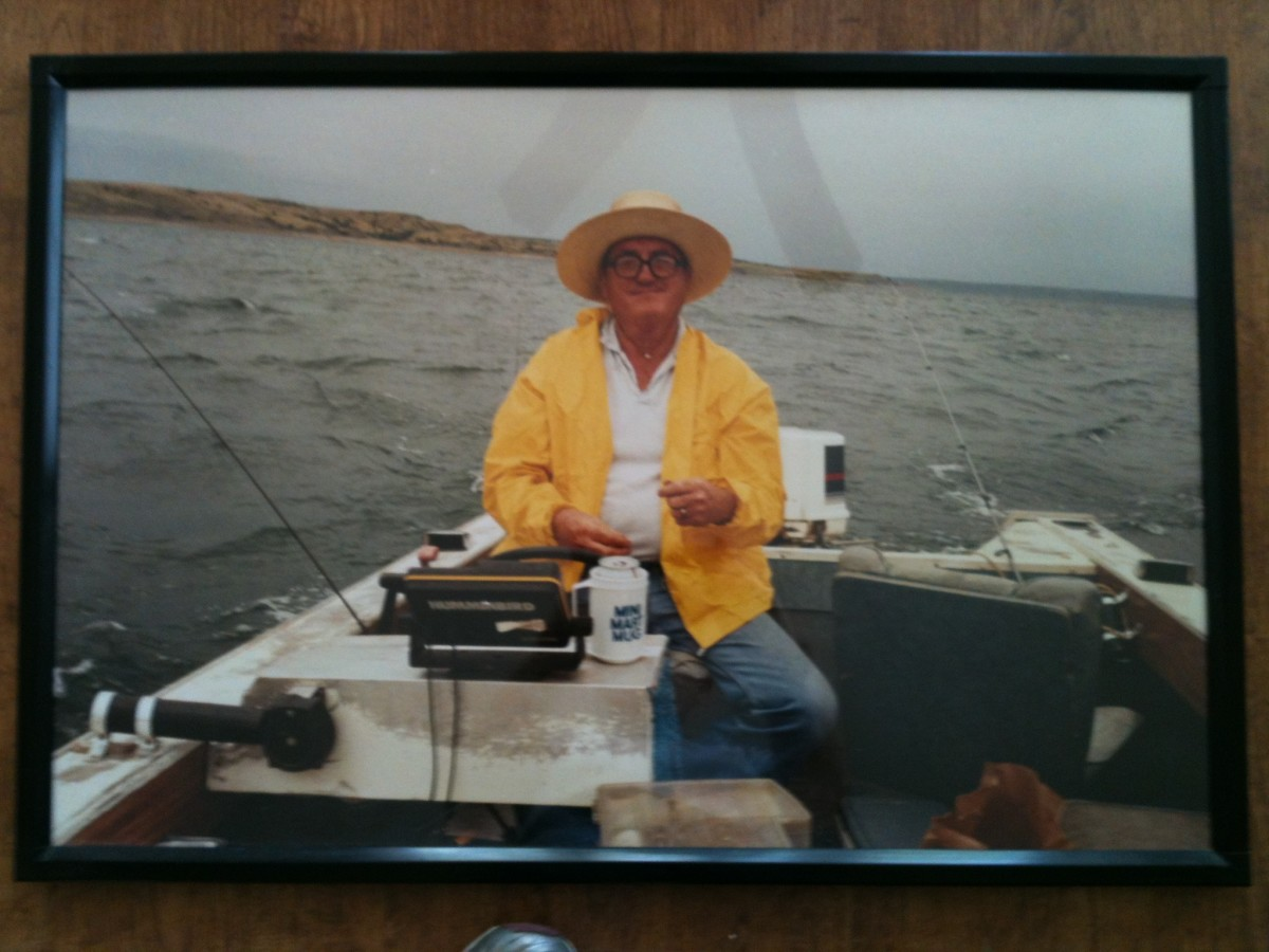 Ye old fisherman, my dad.  He loved to fish, loved to help others catch fish, loved to give.