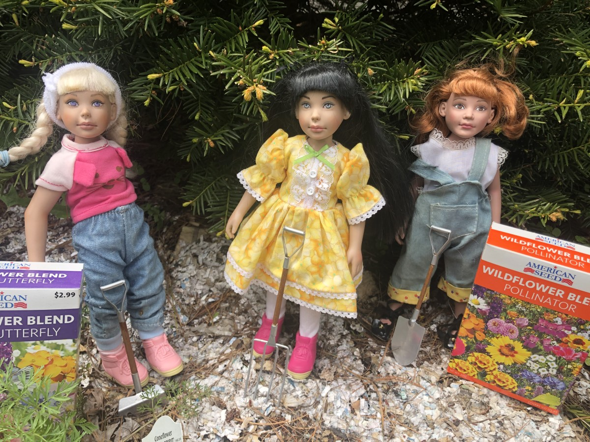 My Denis Bastien girls gardening