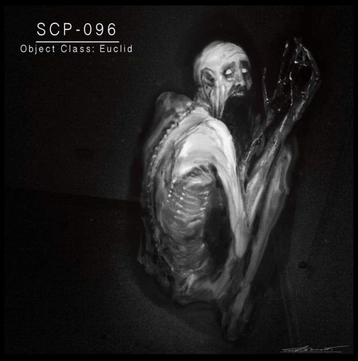 SCP-096, illustration created by David Romero on Artstation