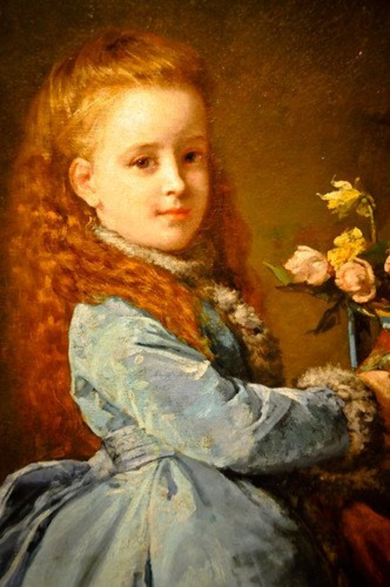 Painting of young Edith Wharton