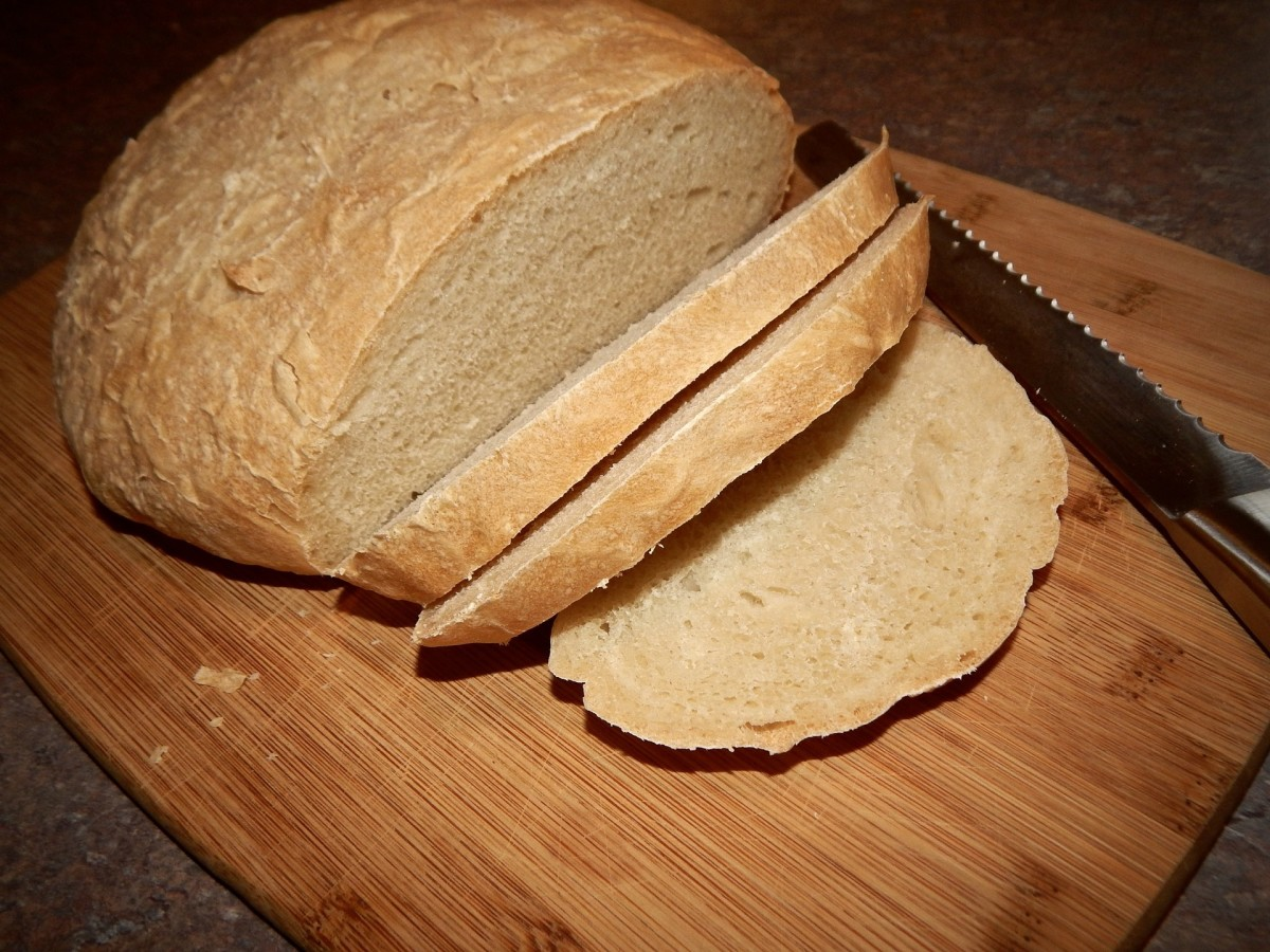 A perfect loaf of Tuscan bread