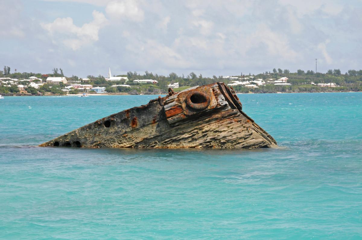 A wreck in Bermuda
