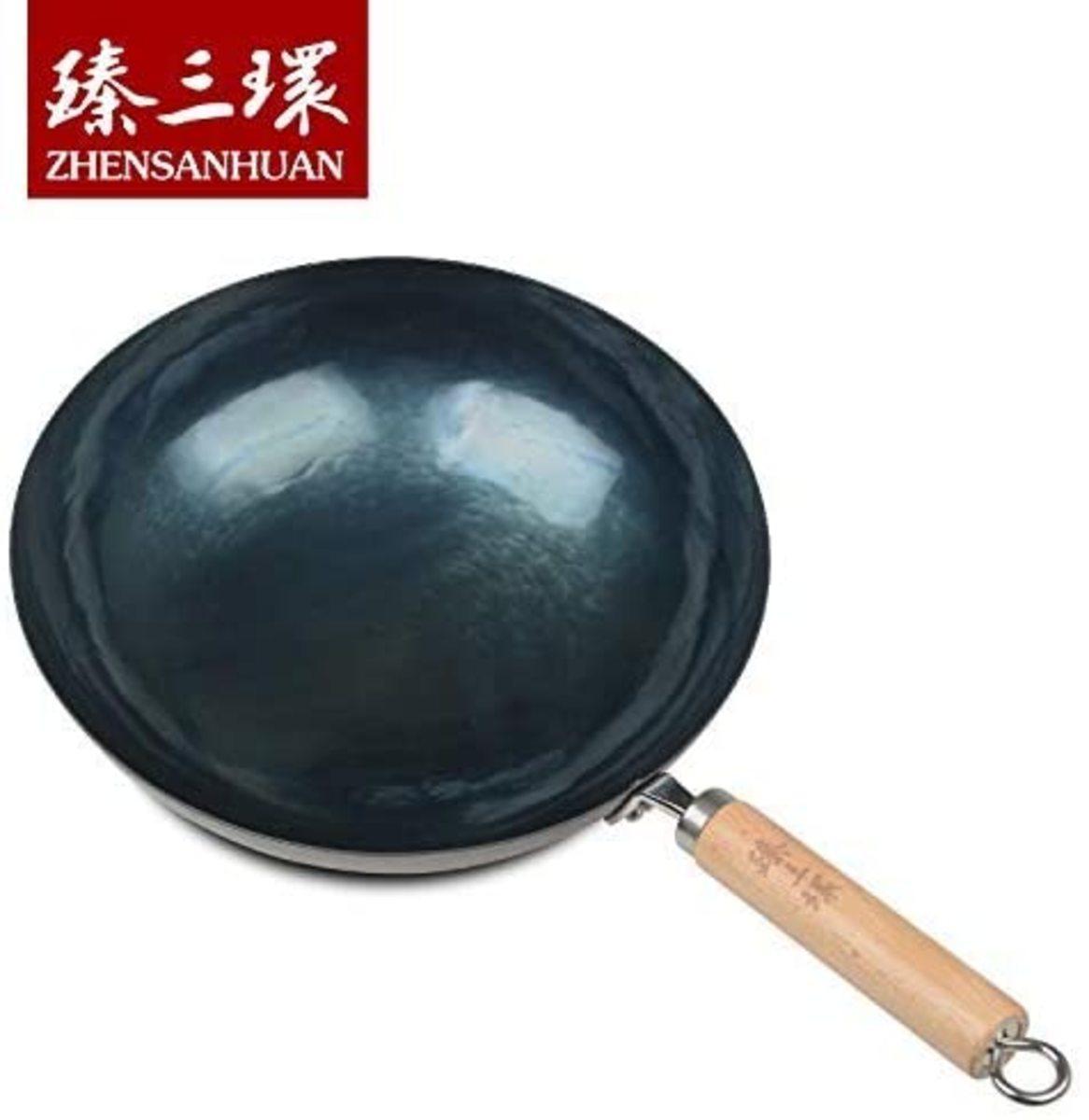 ZhenSanHuan Chinese Hand Hammered Iron Wok
