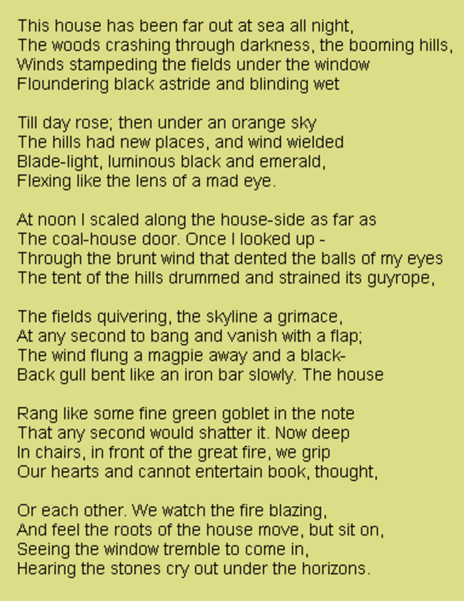analysis-of-poem-wind-by-ted-hughes