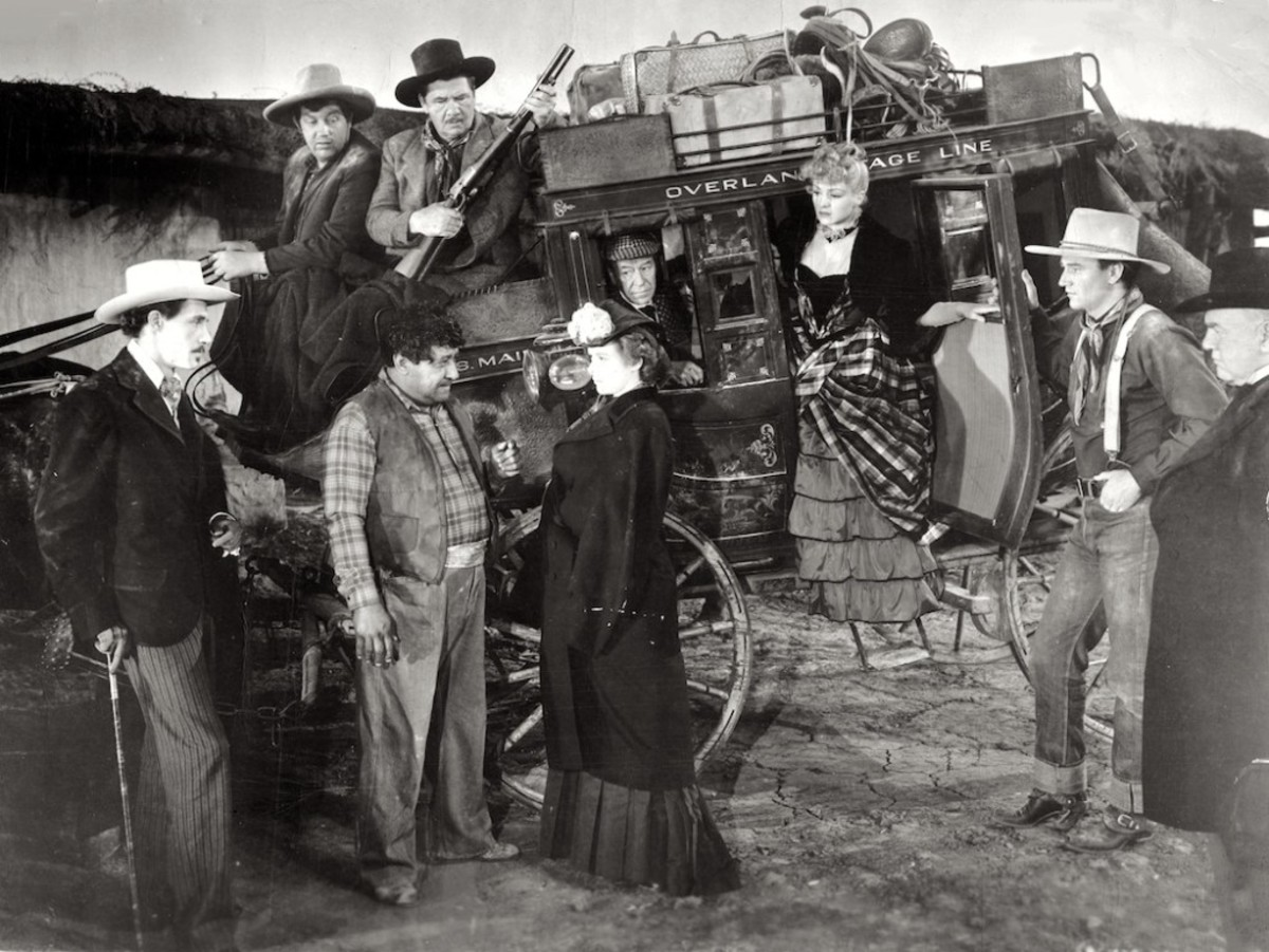 "Scene from ""Stagecoach"""