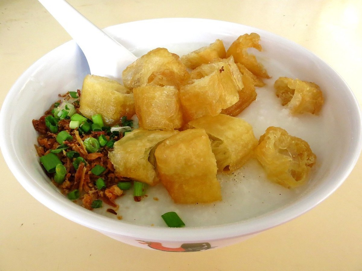 Arroz caldo with tofu