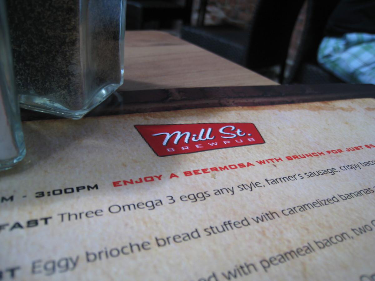 Mill Street Brew Pub menu