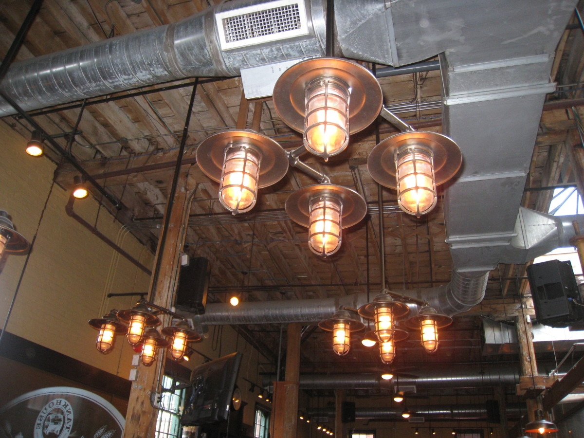 Some of the other dim lights that caught my attention in Mill Street Brew Pub restaurant.