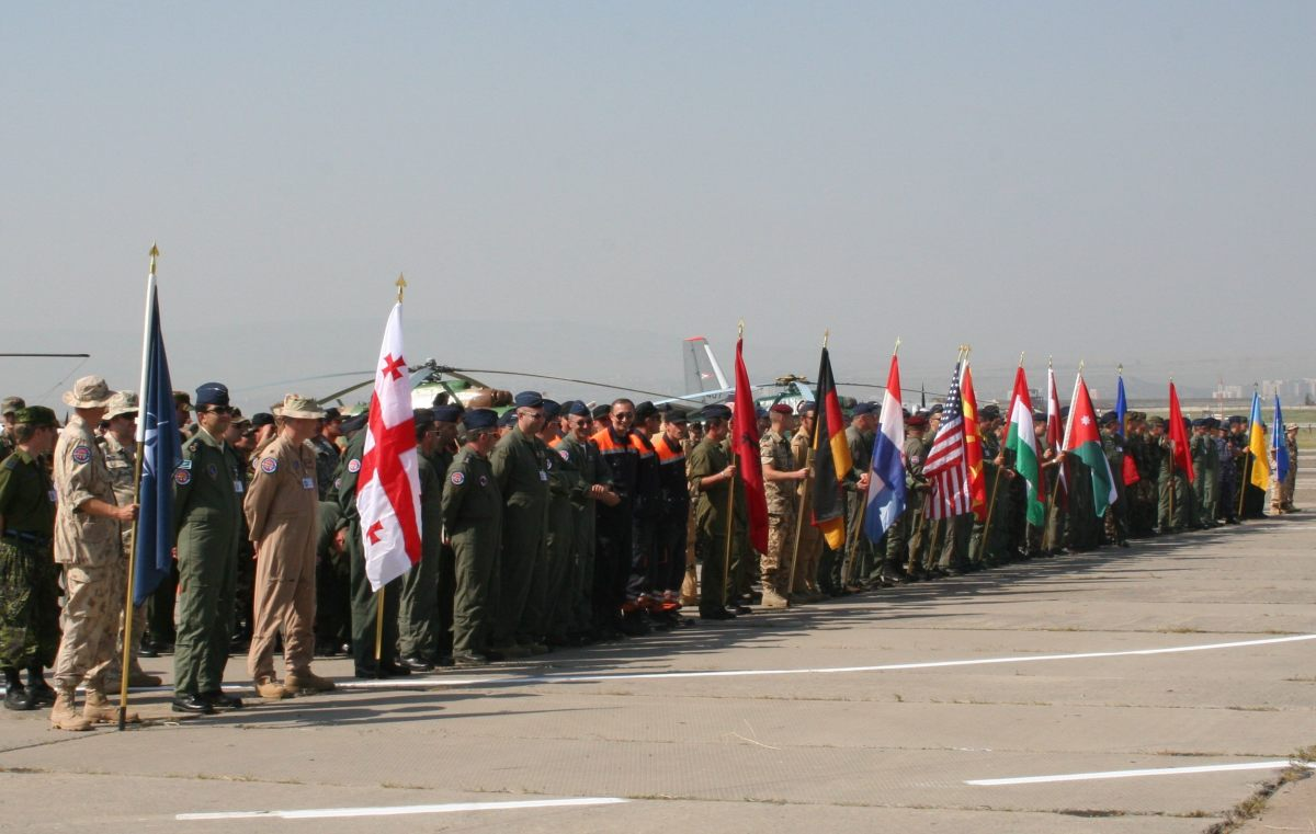 One example of security cooperation is the Partnership for Peace. Multinational military exercises inlcude examples like the Cooperative Archer in Tbilisi, Georgia, in July 2007 with 500 servicemen from four NATO members, eight PfP members, and Jorda