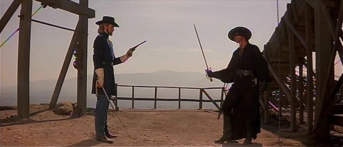 Captain Love faces Zorro.