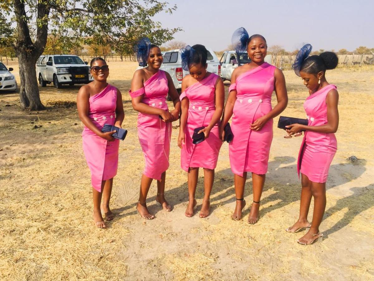 A beautiful picture of bridesmaids at a fellow sisters wedding. This picture shows support and love for fellow women. Something that is becoming scarce in our societies.