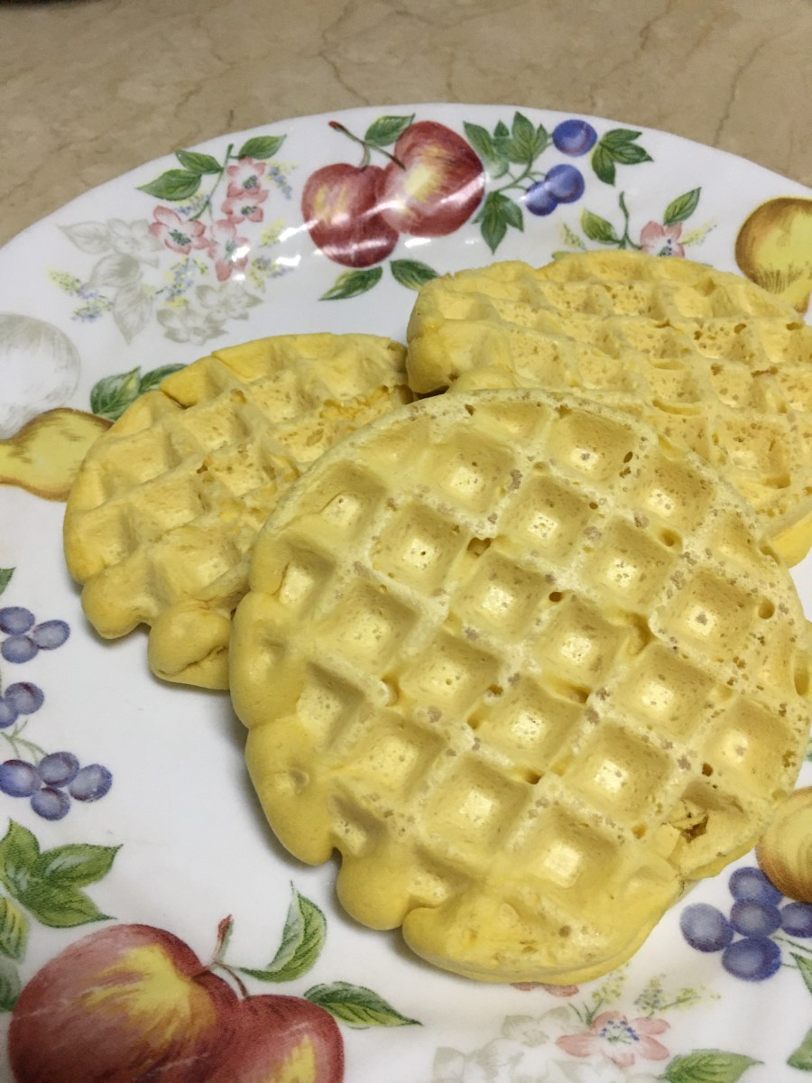 It takes me only about 15-20 minutes to make 4-5 mini waffles.