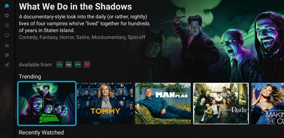 The Tivo Stream 4K recommends movies and TV shows, and also indicates which streaming services offer them
