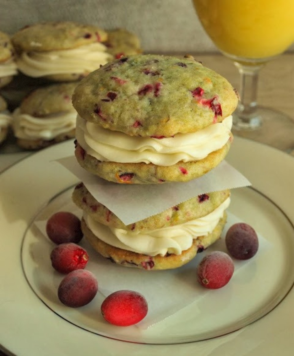 Cranberry orange whoopie pies