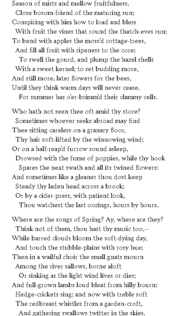 analysis-of-poem-ode-to-autumn-by-john-keats