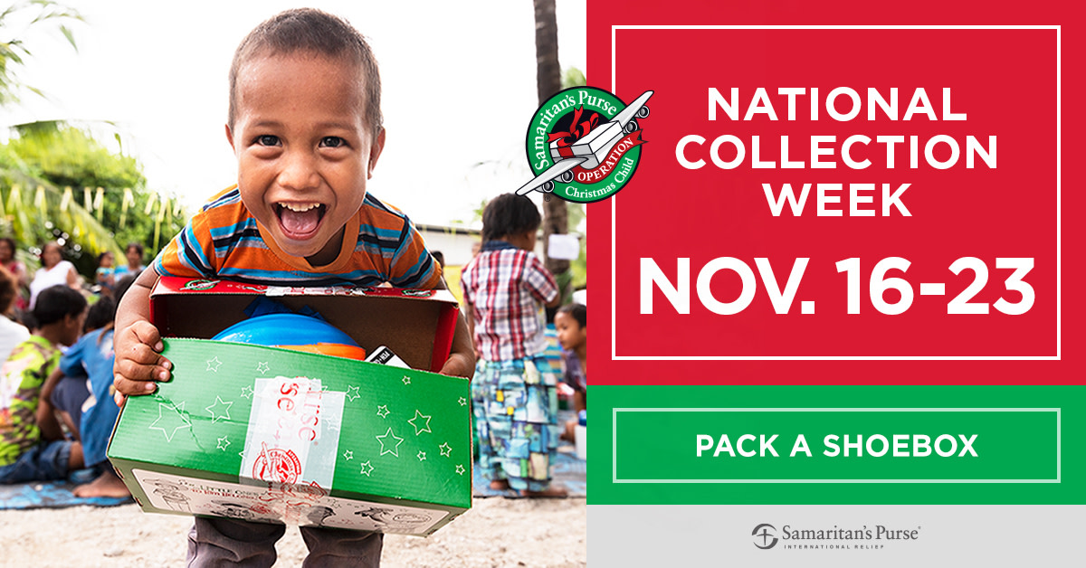The 2020 National Collection Week for OCC is November 16-23.