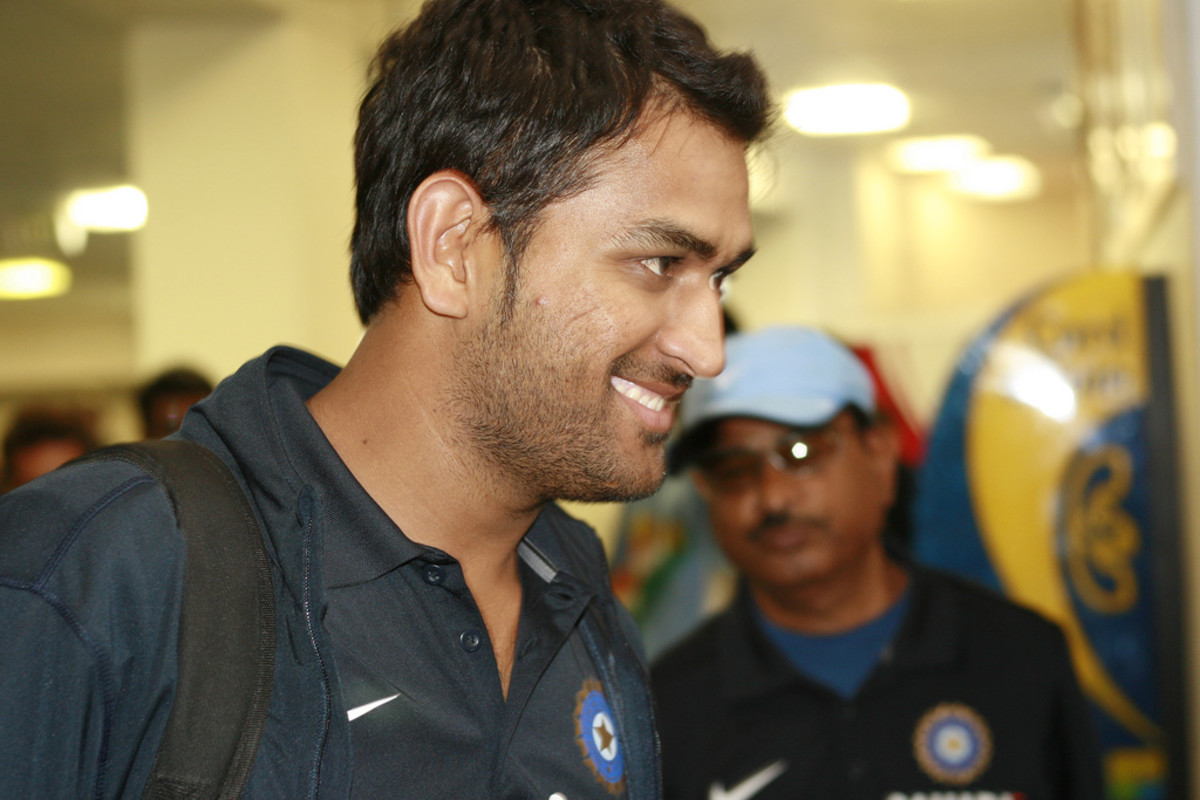 Indian team arriving to a Cricket match