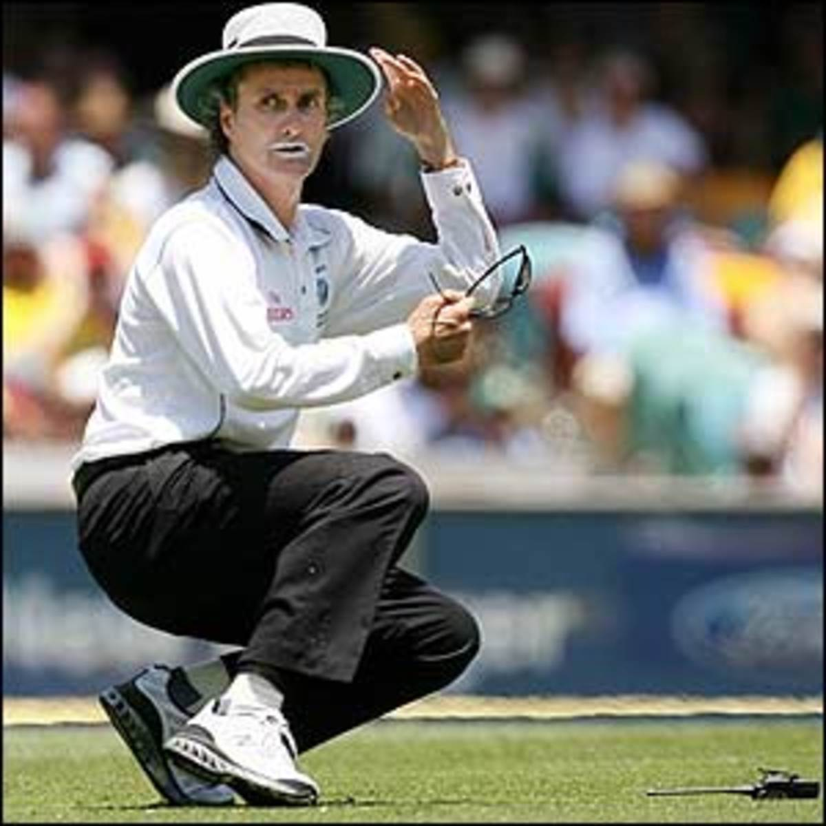 Umpire at a cricket game