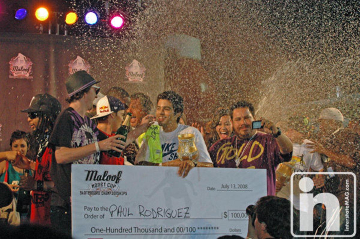 Paul Rodriguez Winning $100,000 / Maloof Money Cup