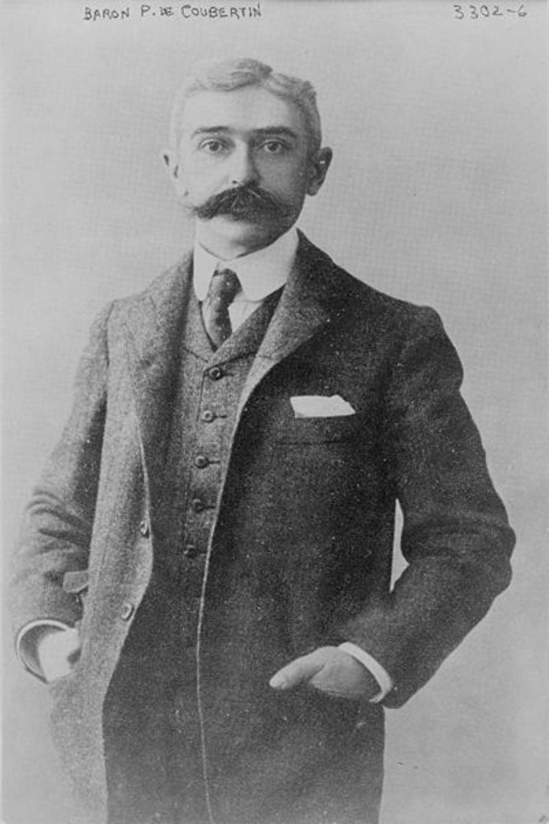 Baron Pierre de Coubertin c. 1915. Photo courtesy wikimedia.org.