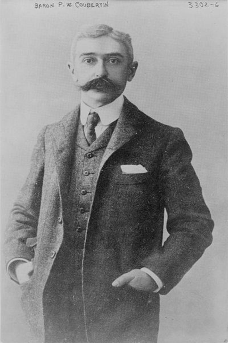 Baron Pierre de Coubertin c. 1915. Photo courtesy wikimedia.org.
