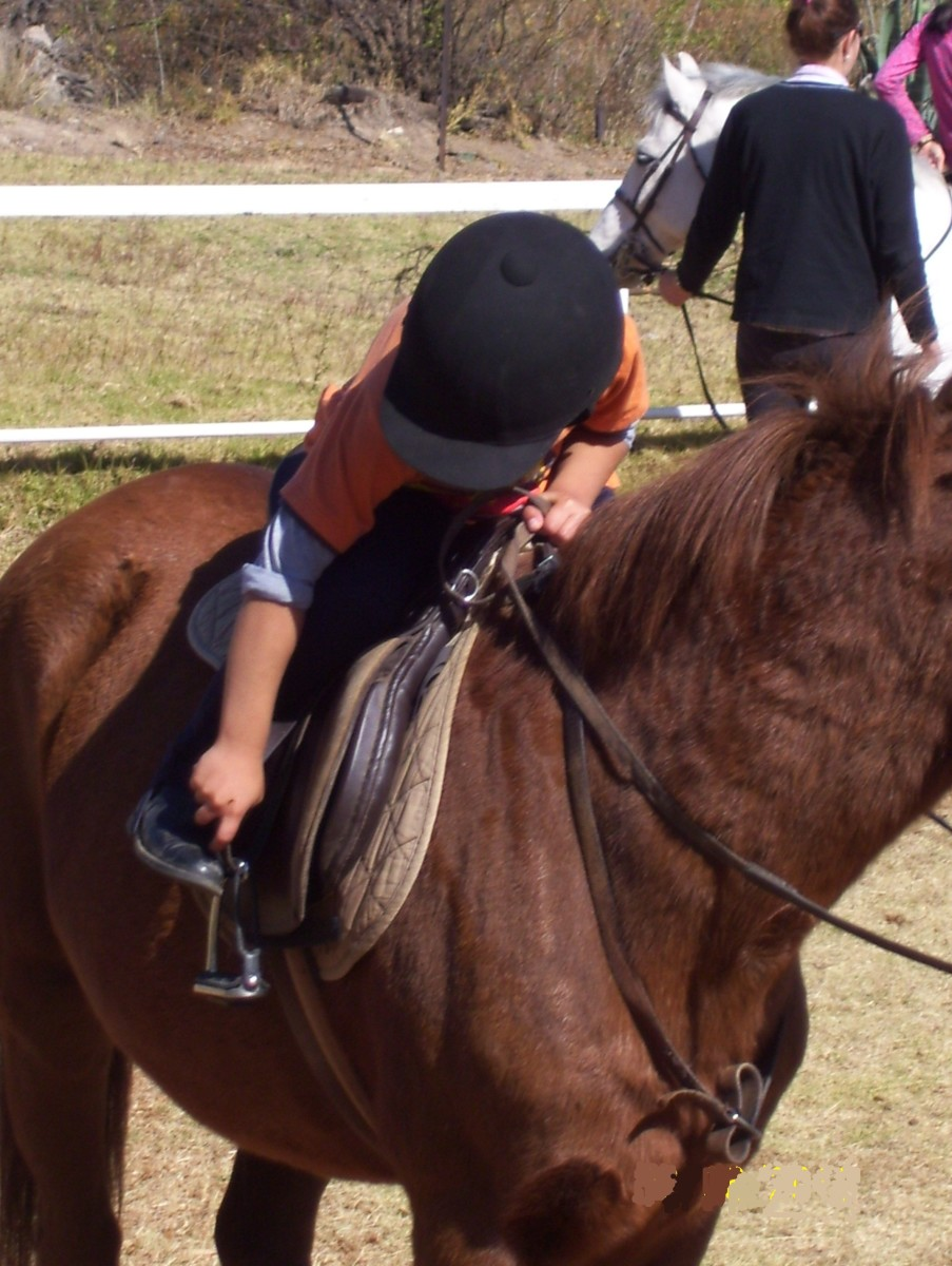 Ensure that you have good riding technique and that your feet are positioned correctly in the stirrups.